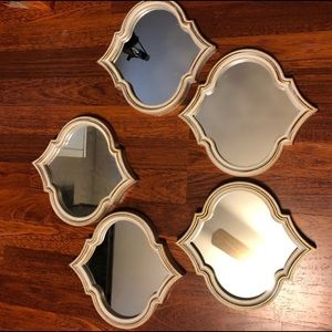 Antique Ivory Gold Accent Wall Mirror (1) Decor